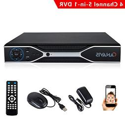 4 Channel 960H 5-In-1 H.264 AHD 1080P CCTV Security Standalo