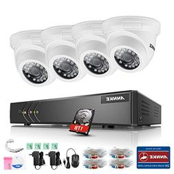 ANNKE 8-Channel Security System 1080P lite Video DVR with 1T