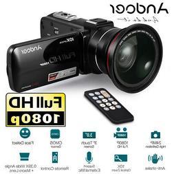 "1080P FHD 24MP 10X Zoom Digital Video Camera Camcorder 3""Tou"
