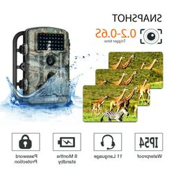 1080P Trail Cameras 12MP Security Hunting Trail Video Cam In