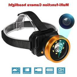 1080P Video Camera Recorder Headlight Rechargeable IP66 8 LE