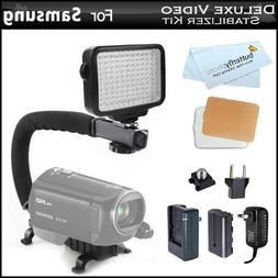 10-Piece Pro 120 LED Dimmable On-Camera LED Video Light Kit
