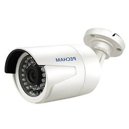 PECHAM 24 IR LEDs Bullet Security CCTV Camera, 3.6mm Wide An