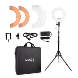 Kshioe 12in LED Ring Light Dimmable Continuous Lighting Kit