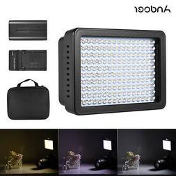 Andoer 160 LED Video Camera Light Lamp 10.5W Dimmable 5600K