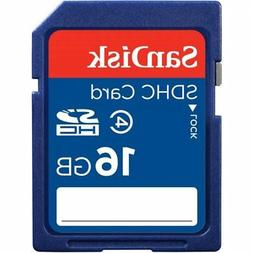 SanDisk 16GB SDHC SD Flash Memory Card Class 4 HD Video Came