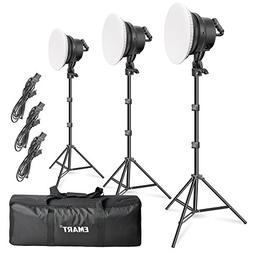 Emart 176 LED Dimmable Photography Lighting Kit with Reflect