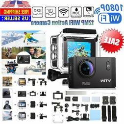 "2.0"" Full HD 1080p 12MP WIFI Action Camcorder 170° Mini  Di"