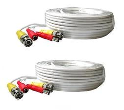 2 PACK 60 Feet Video Power BNC RCA Cable fit Swann CCTV Secu