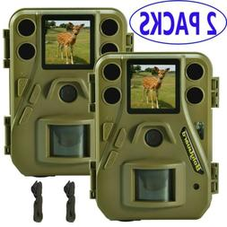 2 Pack Boly Cam 24MP Hunting Game Trail Cameras HD 1080P Vid