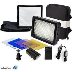LimoStudio 216 LED Dimmable Ultra High Power Light Panel wit