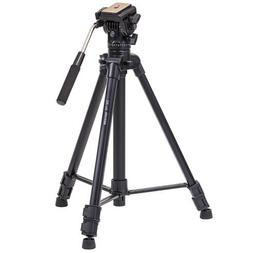 "Takama 66"" 3 Section Flip Video Camera Tripod withFluid Drag"