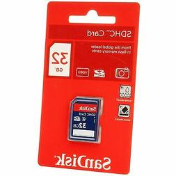 SanDisk 32GB SDHC SD Flash Memory Card Class 4 HD Video Came