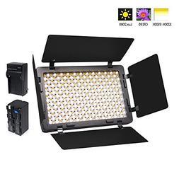 Venidice Ultra-thin Camera LED Light Panel Video Light Kit
