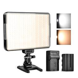 360 LED Video Light Panel, Dimmable Camera Camcorder Video L