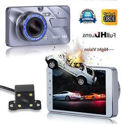"""4""""  FHD 1080P Dual Cam Car DVR Video Camera Recorder Dashboa"""