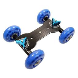 4-Wheel Tripod Skate Table Dolly Video-Camera Support Stabil