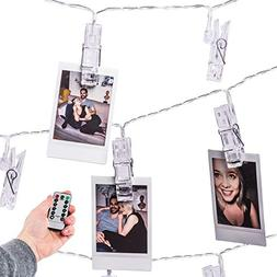 Mind-glowing 40 LED Photo Clip String Lights  with Remote Co