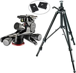 Manfrotto 475B Aluminum Pro Geared Tripod Kit with XPRO Gear