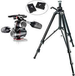 Manfrotto 475B Aluminum Pro Geared Tripod Kit with X-PRO 3-W