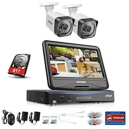 SANNCE 4CH DVR Recorder with Monitor, 1080N Video Security S