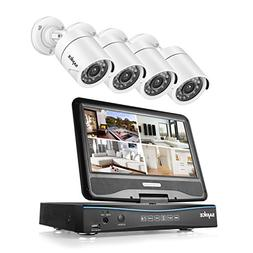 SANNCE 4CH 720P DVR Security Camera System and 4pcs 1.0 MP 1