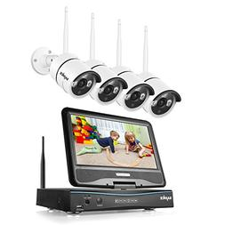 SANNCE 4CH Megapixel 720P Wireless Outdoor IP Camera System
