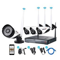 CANAVIS Security Camera System 4CH 960P NVR and 4PCS 720P We