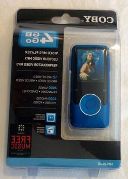 Coby 4GB Go Video MP3 Player MP620-4G FM Radio Factory Seale