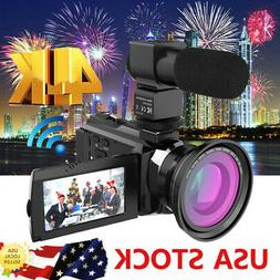 4k 1080p 48mp wifi video camera camcorder