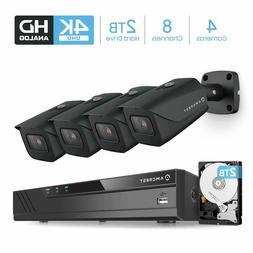 Amcrest 4K 8CH Video DVR Security 8MP Camera System 4X 4K Ou