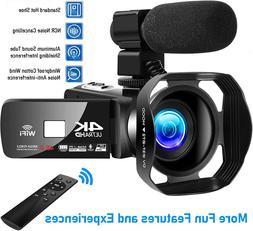 4K Camcorder Vlogging Video Camera For Youtube Cofunkool 60F