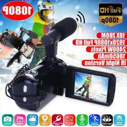 "HD 1080P 24MP 18X ZOOM 3"" Digital Video Camera Camcorder DV"