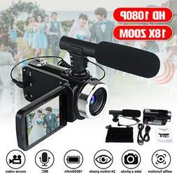 1080P 24MP 18X Zoom 3'' LCD Digital Video Camera Camcorder D