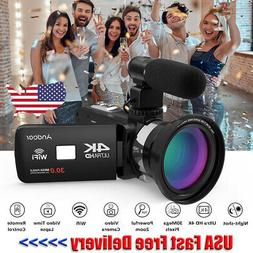 Andoer 4K HD WiFi Digital Video Camera Camcorder DV Recorder