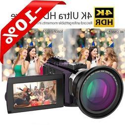 "Andoer 4K ULTRA HD WiFi 48MP 16X ZOOM 3"" LCD Digital Video C"