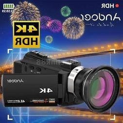 "Andoer 4K WiFi 1080P HD 48MP 16X ZOOM 3"" LCD Digital Video C"