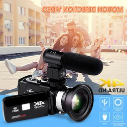 4K WiFi 16X ZOOM HD 1080P Digital Video Camera Camcorder DV