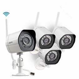 4pc Zmodo 720p HD Outdoor Home Wifi Security Surveillance Vi
