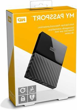 WD 4TB Black My Passport Portable External Hard Drive - US