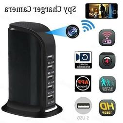 5 USB Port Fast Charger WIFI Hidden Camera 1080P Security Ca