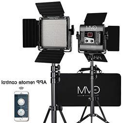 GVM 560 LED Video Light, Dimmable Bi-Color, 2 Packs Photogra