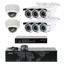 5MP  8 Channel 4K NVR Network PoE IP Security Camera System