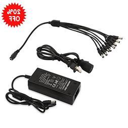 HISVISION Security Camera Power Adapter 12V 5A 100V-240V AC