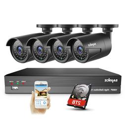 SANNCE 5in1 8CH H.264 DVR 4x1080P Video In/ Outdoor CCTV Sec