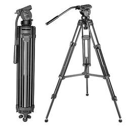 """Neewer 61"""" Video Camera Tripod Aluminum Alloy with 360° Pan"""