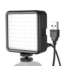 YUOCU 64 LED Video Light Panel, Portable Dimmable Continuous