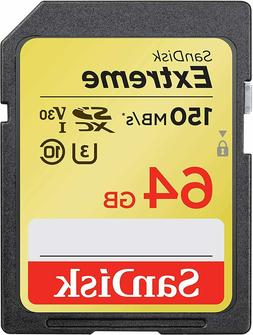 64GB SD Card Extreme 150 MB/S Photography Canon T7i T6i t5i