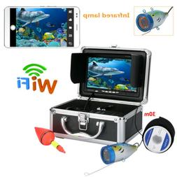 "7"" 30M 1000TVL Underwater Fishing Video Camera Wifi Wireless"