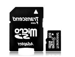 Transcend 8 GB microSDHC Class 2 Flash Memory Card TS8GUSDHC